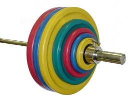 Штанга олимпийская тренировочная 182,5 кг (МВ) цветная