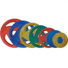 Набор олимпийских дисков, обрезиненные PROTRAIN, D-51 мм, 1,25-25 кг