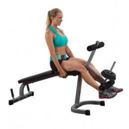 Body Solid Тренажер разгибание ног сидя - сгибание ног лежа на свободном весе PLCE165X