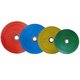 Набор обрезиненных дисков bumper plate, D-51 мм, 10-25 кг, PROTRAIN CBP