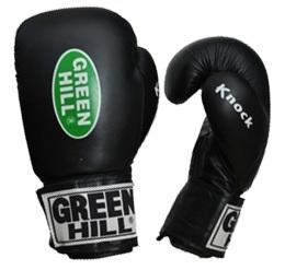 Перчатки боксерские KNOCK KBK-2105, 12oz, кожа, черный