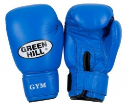 Перчатки боксерские GYM BGG-2018, 14oz, кожа, синий