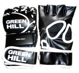 Перчатки для смешанных единоборств MMA-0057, к/з, черный