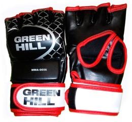 Перчатки для смешанных единоборств MMA-0056, к/з, черный