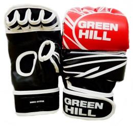 Перчатки для смешанных единоборств MMA-0055R, к/з, красный/белый