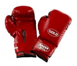 Перчатки для бокса GOLD BGG-2030, 12oz, к/з, красный