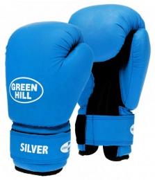 Перчатки боксерские SILVER BGS-2039, 10oz, к/з, синий