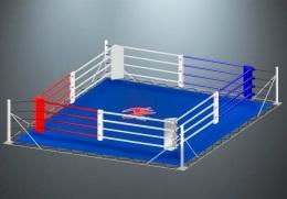 Ринг боксерский с упорами RS954 Стандарт 6х6 метра