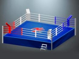 Ринг боксёрский на помосте RS975 AIBA 6,1x6,1 метра
