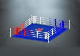 Ринг боксерский на растяжках RS964 Мастер 4х4 метра