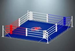 Ринг для бокса на упорах RS963 Мастер 6х6 метра
