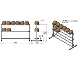 Prof Line Series ST913 Стойка для медболов (3 уровня)