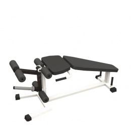 Тренажер сгибание и разгибание ног на свободных весах