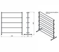 Prof Line Series ST913.5 Стойка для медболов (5 уровней)