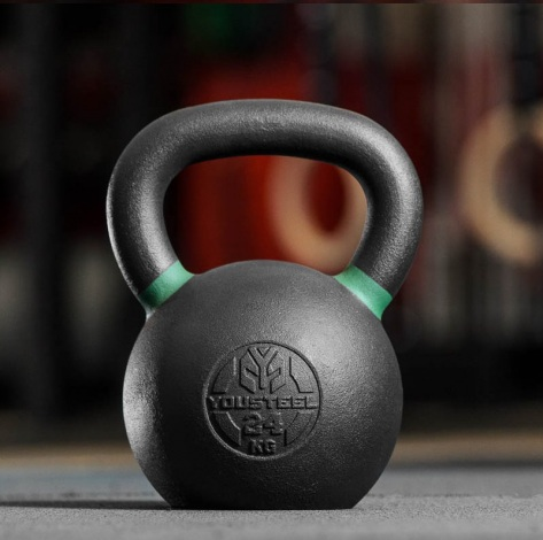 Гиря тренировочная 24 кг чугунная YOUSTEEL