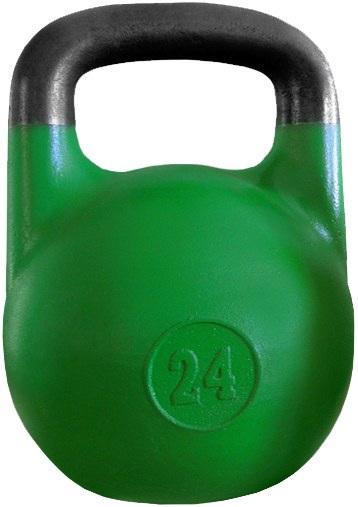 ГС-24 Гиря соревновательная 24 кг зеленая