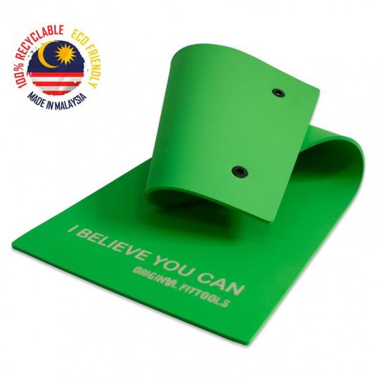 Мат для аэробики 10 мм зеленый с кольцами