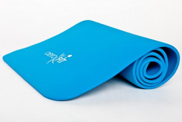 Гимнастический коврик синий FT-WB-180
