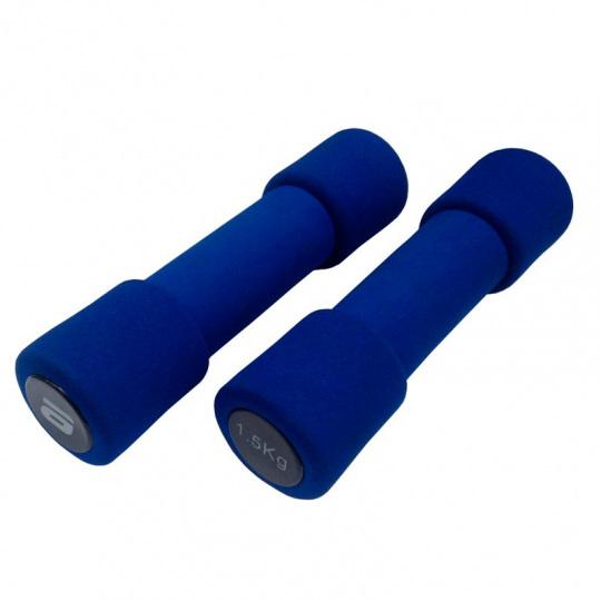 Гантель неопреновая Atemi 1,5 кг, синяя