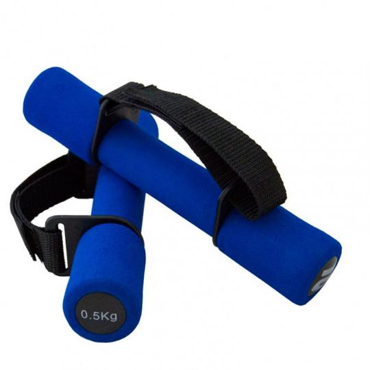 Гантель неопреновая Atemi, 0,5 кг, синяя