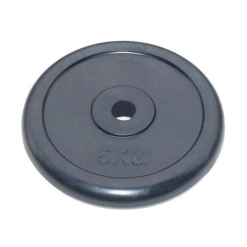 Диск для штанги обрезиненный 26 мм 5 кг черный JOHNS