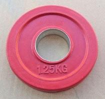 Диск JOHNS обрезиненный 1,25кг., d51мм., красный