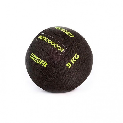 Медицинбол набивной кевларовый PROFI-FIT, (Kevlar Wallball) 9 кг