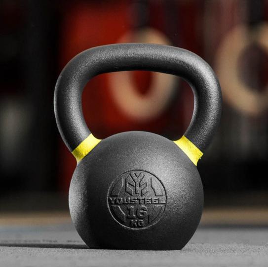 Гиря тренировочная 16 кг чугунная YOUSTEEL