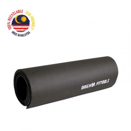 Коврик для йоги 5 мм черный безлатексный