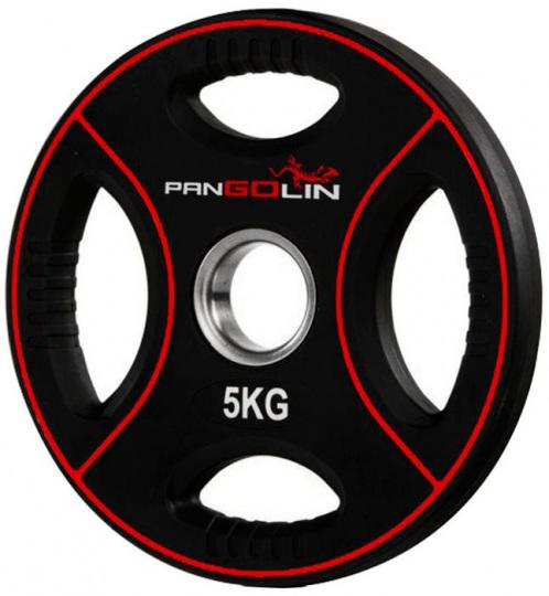 Диск олимпийский полиуретановый с 4-мя хватами 5 кг PANGOLIN WP012PU