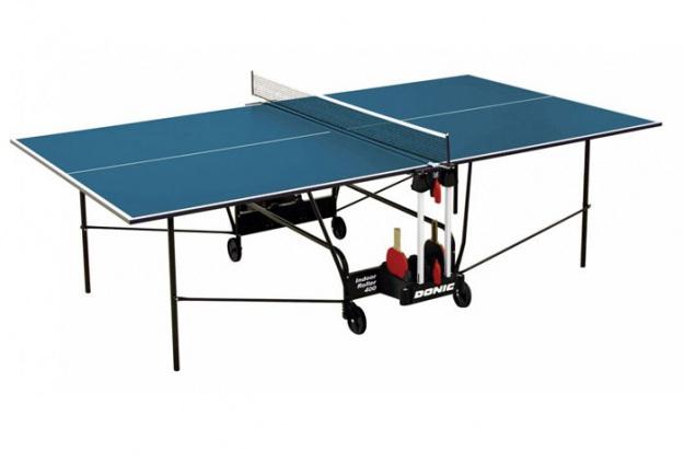 Стол для игры в настольный теннис Donic Indoor Roller 400 синий