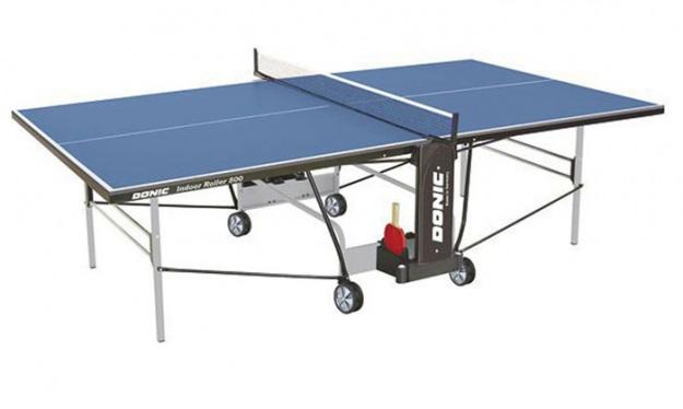 Теннисный стол для игры в доме Donic Indoor Roller 800 синий