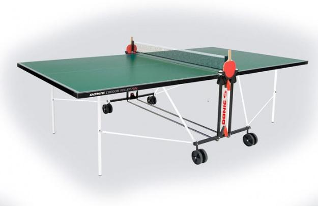 Стол для тенниса Donic Indoor Roller FUN зеленый