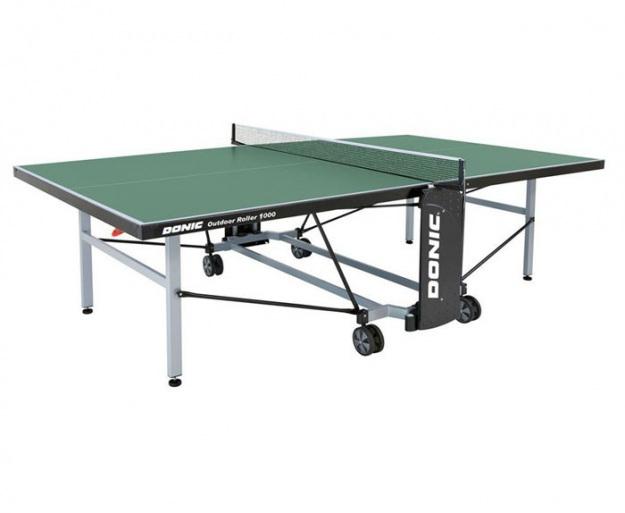 Уличный стол для настольного тенниса Donic Outdoor Roller 1000 зеленый