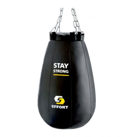 Груша боксерская E523, кожзам, 16 кг, черный