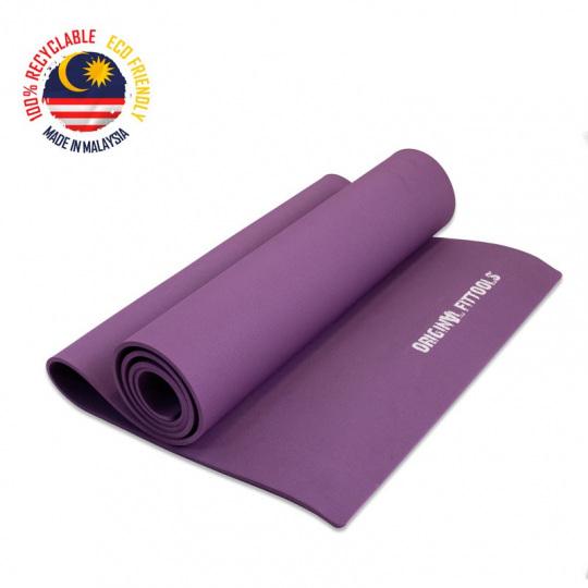 Коврик для йоги 6 мм фиолетовый термопластичный