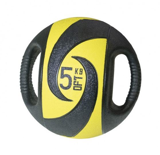 Мяч медбол с хватами, 5 кг