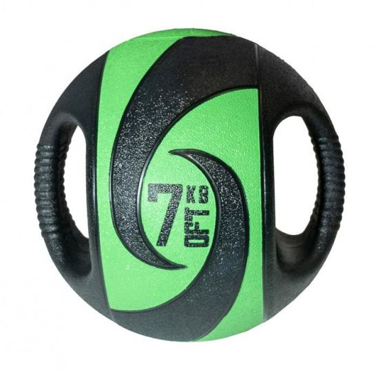 Набивной медицинский мяч с хватами, 7 кг