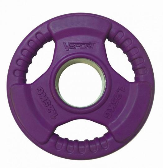 Диск олимпийский 51 мм 1,25 кг обрезин. цветной LC-1.25