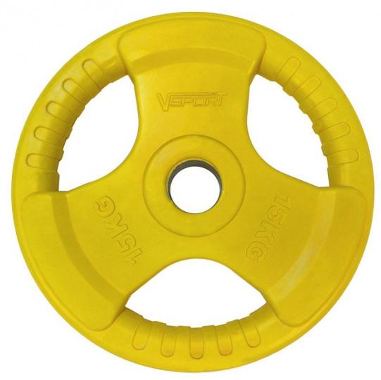 Диск олимпийский 15 кг обрезин. цветн. d 51мм