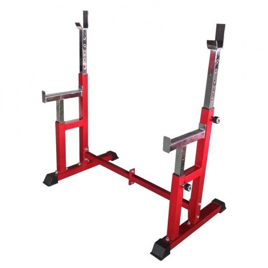 Силовая скамья со стойками для дома, красный DFC