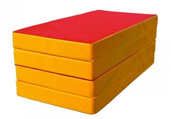 Мат гимнастический 100х200х10 см, складной в 4 сложения, винилискожа