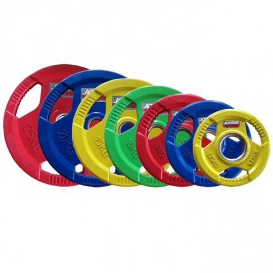 Набор дисков JOHNS цветн. 3-х хват. обрезин. d51мм от 1,25 кг до 25 кг