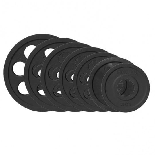 Набор дисков JOHNS черн. 7-ми хват. обрезин. d51мм. от 1,25 кг до 25 кг
