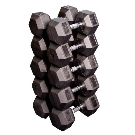 Набор гексагональных гантелей от 24,75 кг до 33,75 кг, шаг 2,25 кг