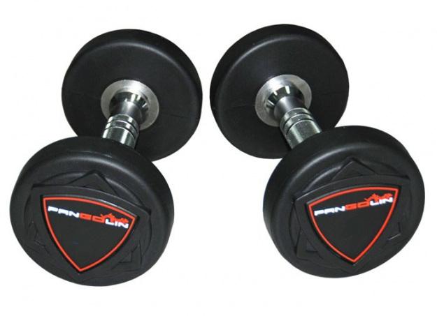 Комплект полиуретановых гантелей от 32,5 до 40 кг PANGOLIN DB006PU