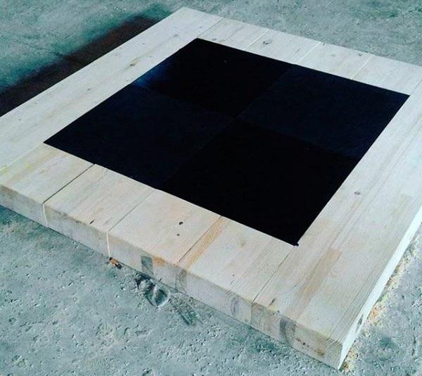 Помост для гиревого спорта (соревновательный), 150x150x10 см