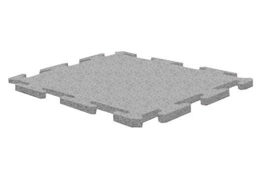 Резиновая плитка Rubblex Active Puzzle 1000x1000x15 мм