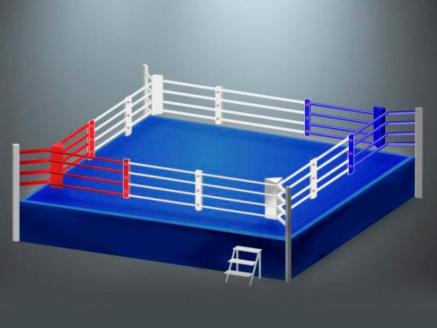 Увеличенный боксерский ринг на помосте RS973 Универсал 6х6х0,5 метра