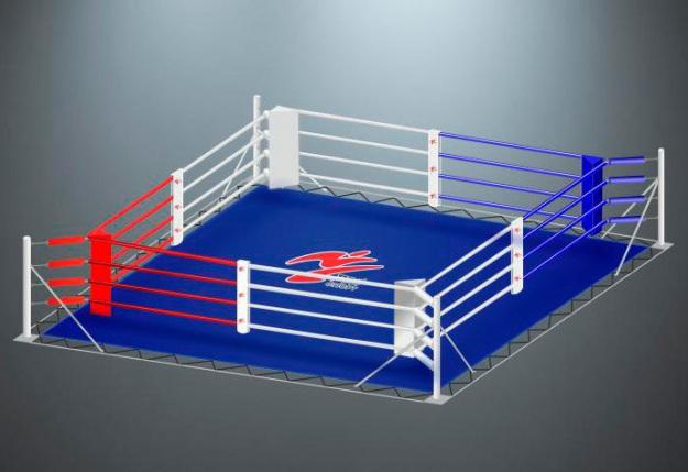 Ринг для бокса на упорах RS961 Мастер 4х4 метра